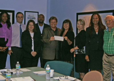 Check Presentation to Network for Teaching Entrepreneurship (NFTE)
